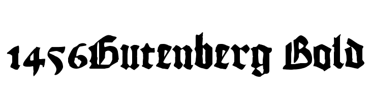 1456Gutenberg Bold  font caratteri gratis