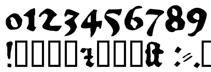 1456Gutenberg Bold Font OTHER CHARS