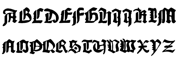 1456Gutenberg Bold Font UPPERCASE