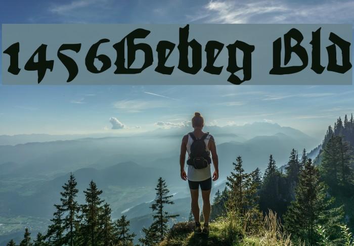 1456Gutenberg Bold Font examples