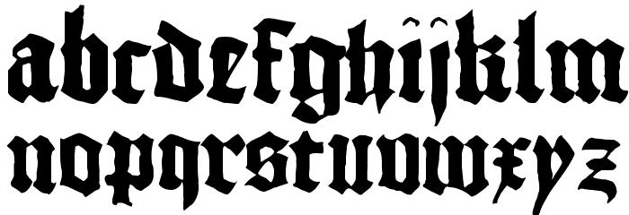 1456Gutenberg Bold Font LOWERCASE