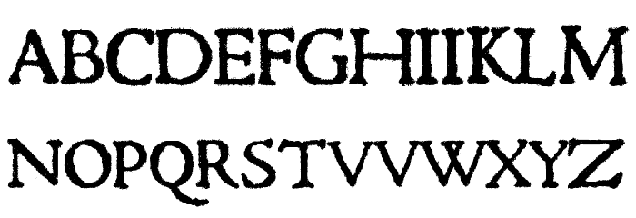 1470Jenson SemiBold フォント 大文字