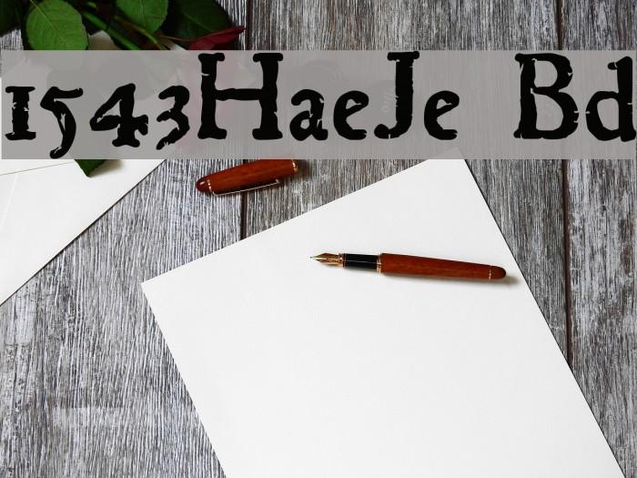 1543HumaneJenson Bold Font examples
