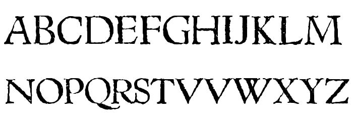 1543HumaneJenson Normal Font Litere mari