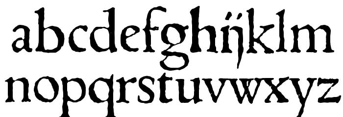 1543HumaneJenson Normal Font Litere mici