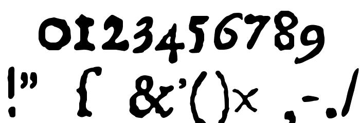 1550 Font Alte caractere
