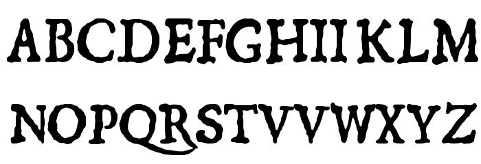 1550 Шрифта ВЕРХНИЙ