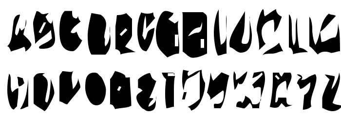 15teen Font UPPERCASE