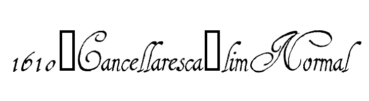 1610_Cancellaresca_lim Normal  Free Fonts Download