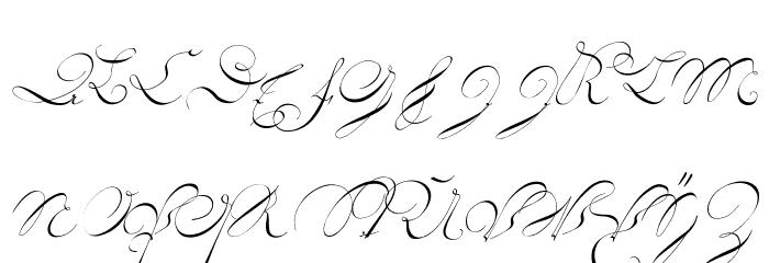 18th Century Initials फ़ॉन्ट लोअरकेस