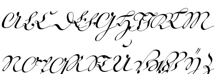 18th Century Kurrent Alternates Font Litere mari