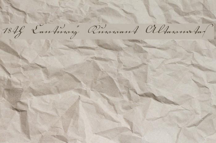 18th Century Kurrent Alternates Font examples