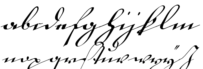 18th Century Kurrent Alternates Font Litere mici