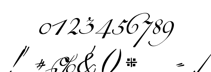 18th Century Kurrent Text Font OTHER CHARS