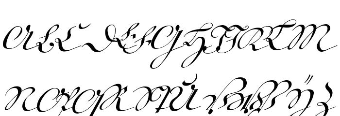 18th Century Kurrent Text Font UPPERCASE