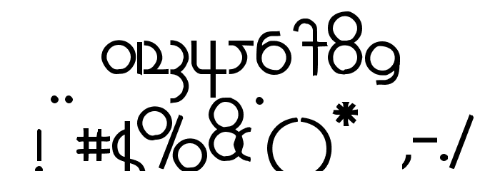 1920 Bold Font OTHER CHARS