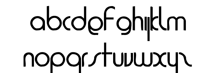 1920 Bold Font LOWERCASE