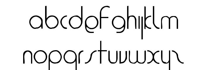 1920 Font LOWERCASE