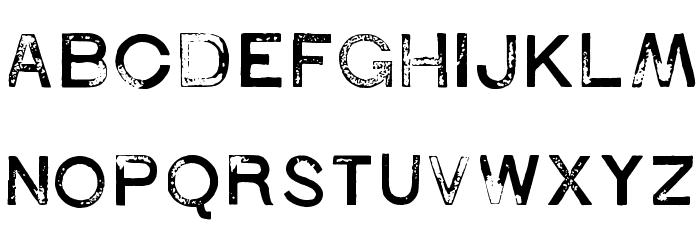 1938 STeMPEL Font Litere mari