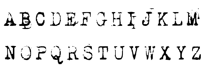 1942 report Font UPPERCASE