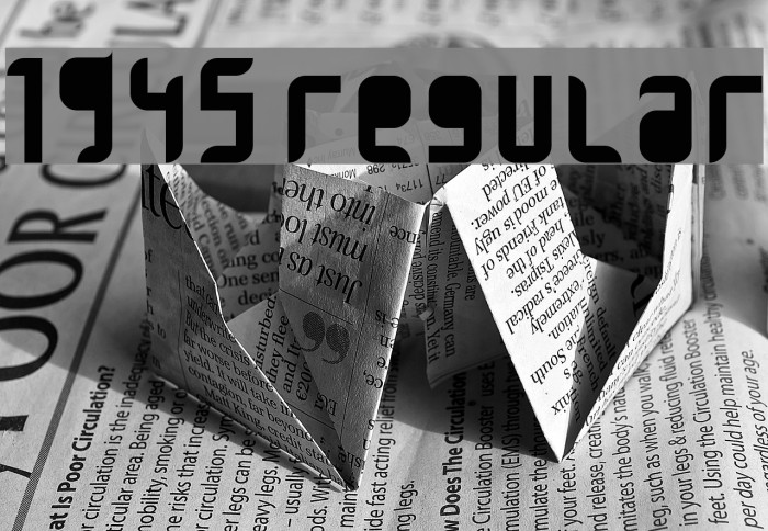 1945 Regular Font examples