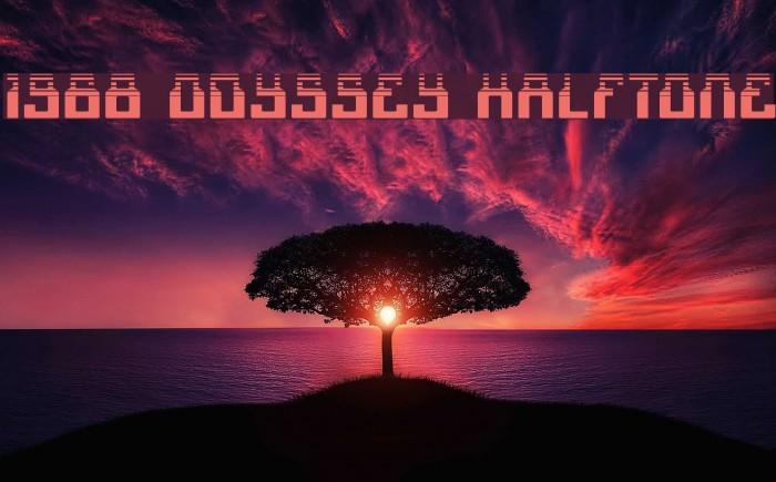 1968 Odyssey Halftone لخطوط تنزيل examples