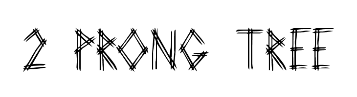 2 Prong Tree  Free Fonts Download