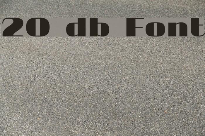 20 db Fonte examples