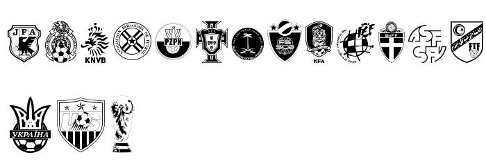 2006 Team 字体 大写