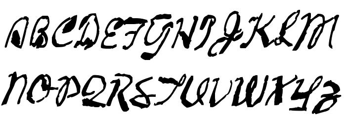 2013 Demo Cadaver's Script  Pre-release. Fonte MAIÚSCULAS