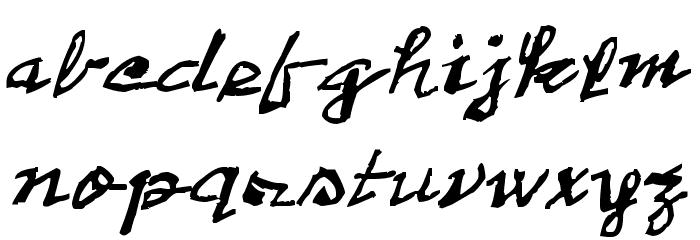 2013 Demo Cadaver's Script  Pre-release. Font Litere mici