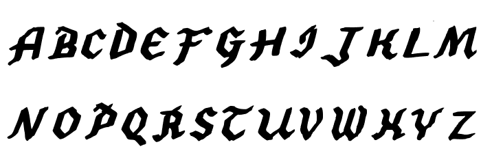 2013 Demo Hexagonal Delight Heavy Italic (Caps and numbers) for Mac Fonte MAIÚSCULAS