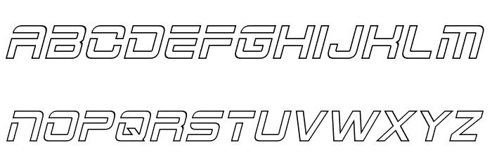 2015 Cruiser Hollow Italic फ़ॉन्ट अपरकेस
