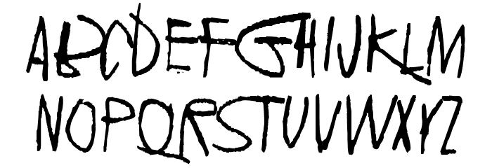 2016 Bugs Font LOWERCASE