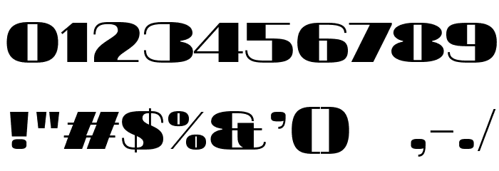20db Font OTHER CHARS