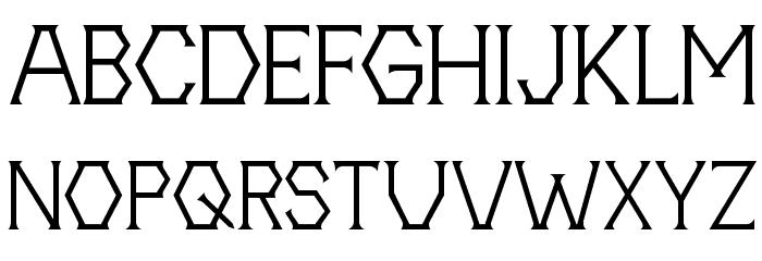 20th Centenary Faux 字体 大写