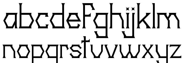 20th Centenary Faux 字体 小写