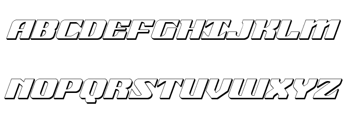 21 Gun Salute 3D Italic फ़ॉन्ट अपरकेस