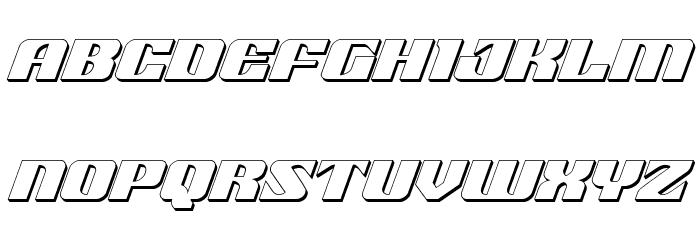 21 Gun Salute 3D Italic फ़ॉन्ट लोअरकेस