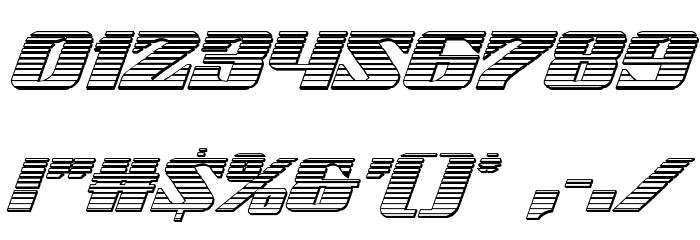21 Gun Salute Chrome Italic Шрифта ДРУГИЕ символов