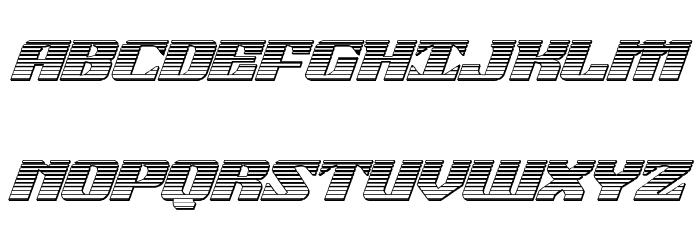 21 Gun Salute Chrome Italic Шрифта ВЕРХНИЙ