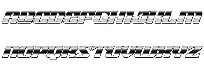21 Gun Salute Chrome Italic Шрифта строчной