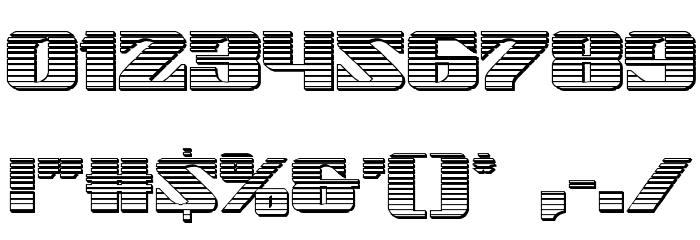 21 Gun Salute Chrome Font OTHER CHARS