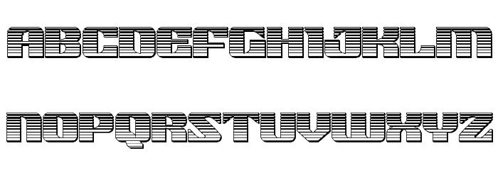 21 Gun Salute Chrome Font LOWERCASE