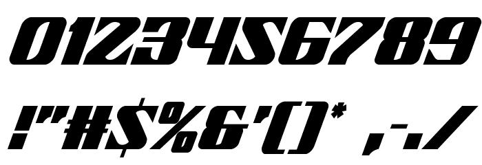21 Gun Salute Condensed Italic Шрифта ДРУГИЕ символов