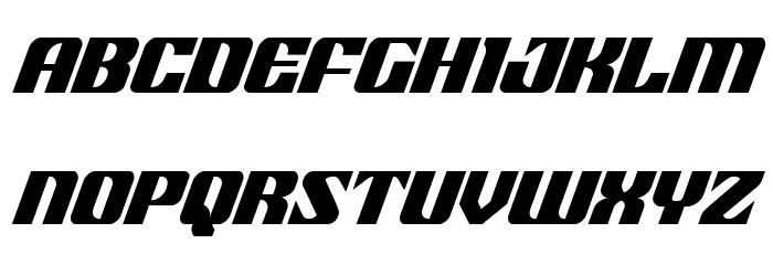 21 Gun Salute Condensed Italic Шрифта строчной