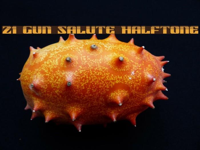 21 Gun Salute Halftone لخطوط تنزيل examples