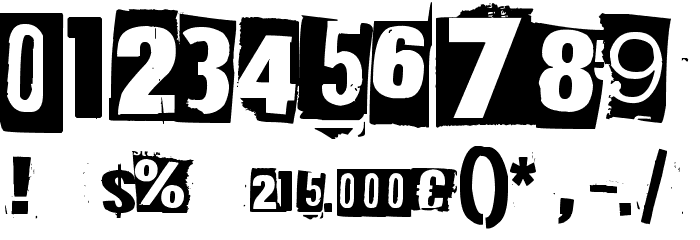 215000E Font OTHER CHARS