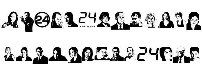 24hourbauer फ़ॉन्ट अपरकेस