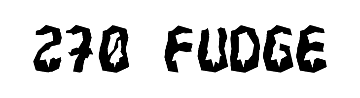 270 Fudge  Free Fonts Download